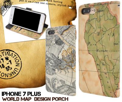 <スマホケース>iPhone8Plus/iPhone7Plus用ワールドデザインケースポーチ