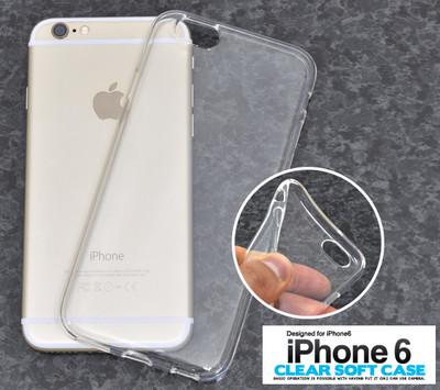 <スマホ用素材アイテム>オリジナルケースの製作などに。 iPhone6/6s用クリアソフトケース